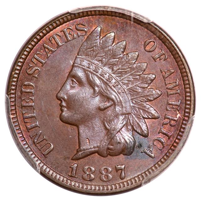 1887 1C Indian Cent - Type 3 Bronze PCGS MS63BN