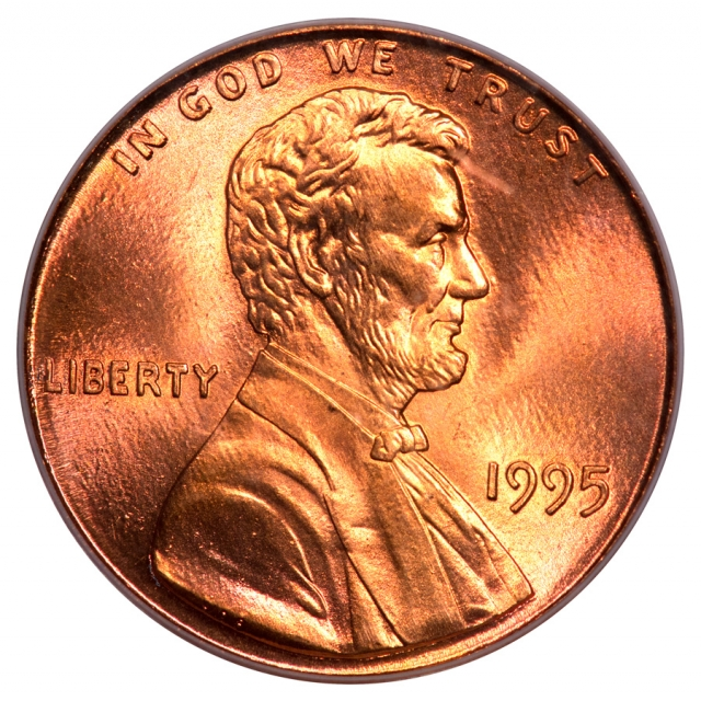 1995 1C Doubled Die Obverse Lincoln Cent (Modern) - Type 4 Memorial Reverse (Zinc) PCGS OGH MS66RD (CAC)