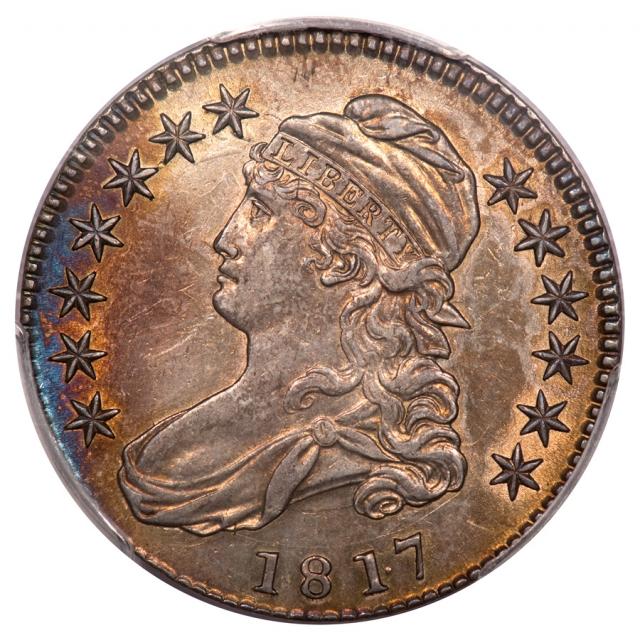 181.7 50C Punctuated Date Overton 103 Capped Bust Half Dollar PCGS AU55
