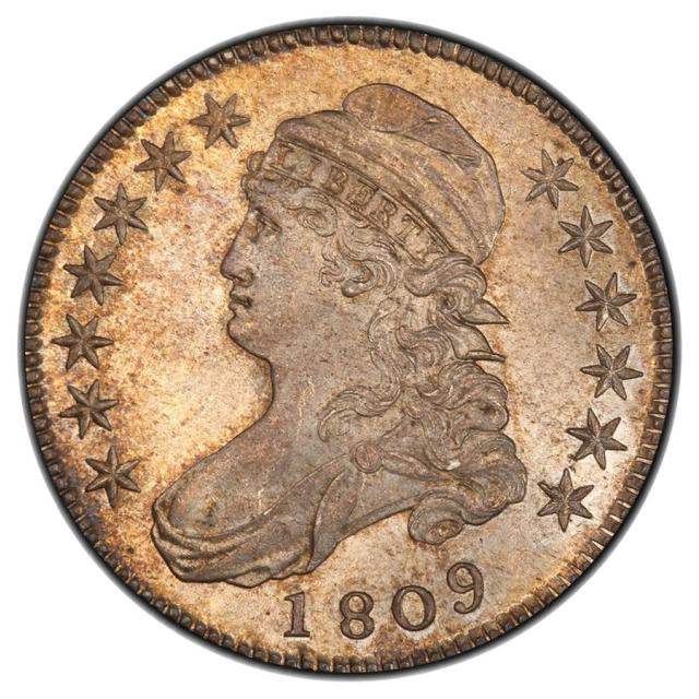 1809 50C III Edge Overton 107 Capped Bust Half Dollar PCGS MS65