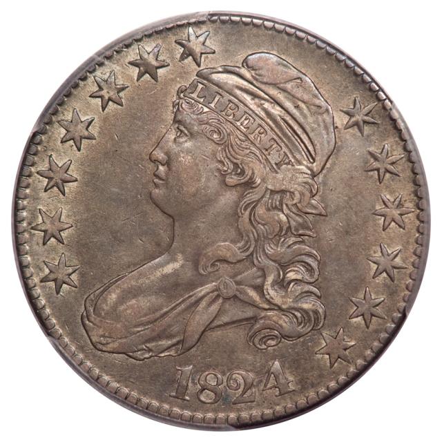 1824/4 50C O-109 Capped Bust Half Dollar PCGS XF40