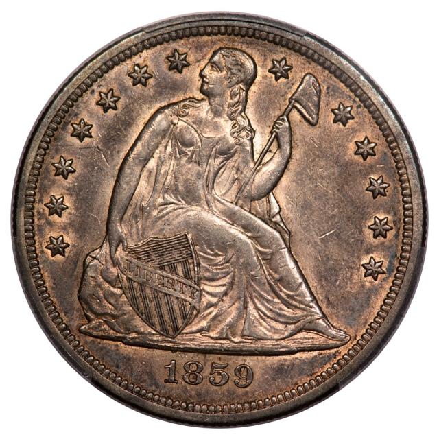 1859-O $1 Liberty Seated Dollar PCGS AU58