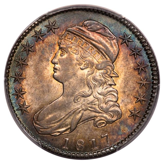 1817 50C O-109 R3 Capped Bust Half Dollar PCGS MS62