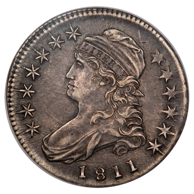1811 SMALL 8 Capped Bust O-113 R5 50C NGC AU55 Double Struck