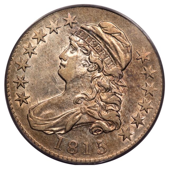 1815/2 50C O-101 Capped Bust Half Dollar PCGS AU50 (CAC)