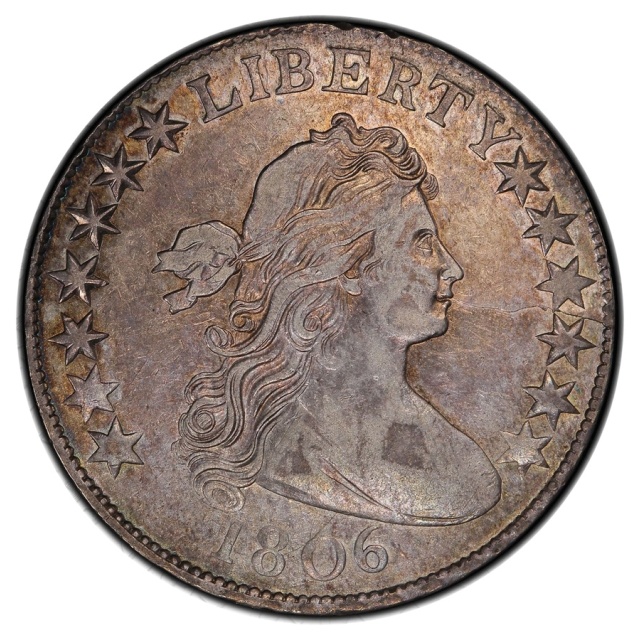 1806 50C Pointed 6, Stem O-110 R6- Draped Bust Half Dollar PCGS XF45 Overton Plate Coin Ex. Meyer