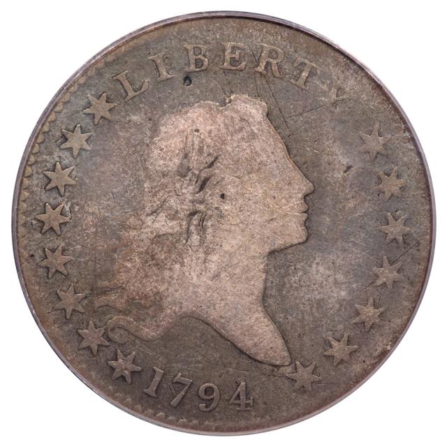 1794 50C O-106 R5 Flowing Hair Half Dollar PCGS VG8