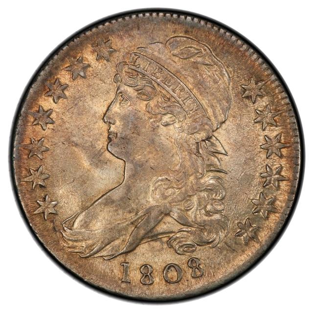 1808 50C O-103 Capped Bust Half Dollar PCGS AU58 (CAC)