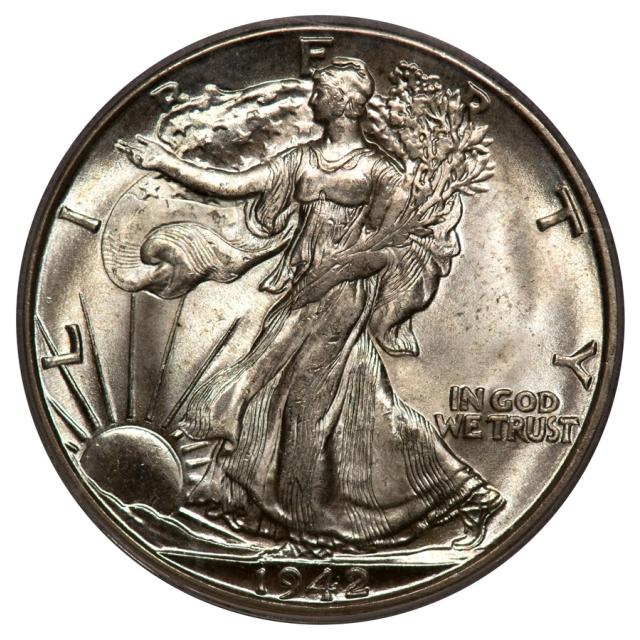 1942-D 50C Walking Liberty Half Dollar PCGS OGH MS65 (CAC_GOLD)