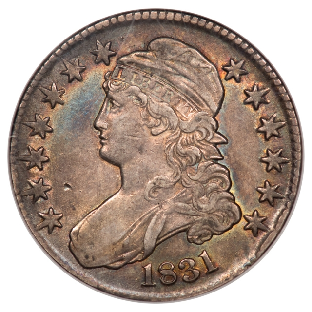 1831 Capped Bust, Lettered Edge O-110 50C NGC AU53