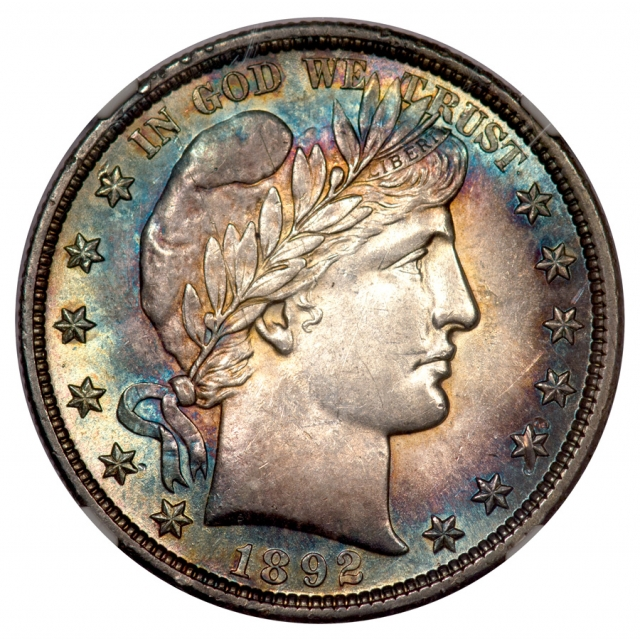 1892 Barber Half Dollar 50C NGC AU58 (STAR)