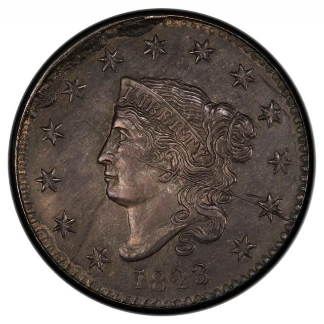 1823 1C Private Restrike Silver Private Restrike - Silver Coronet Head Cent PCGS MS63 ex. Pogue