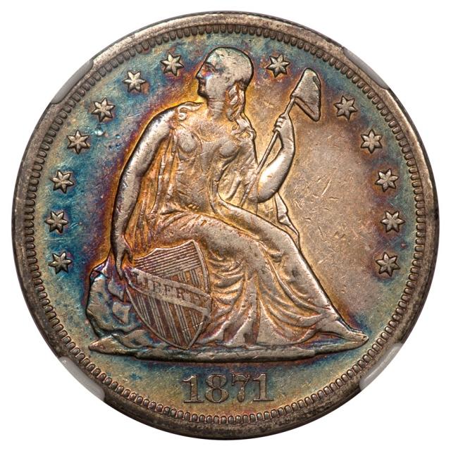 1871 Seated Liberty - Motto S$1 NGC XF40