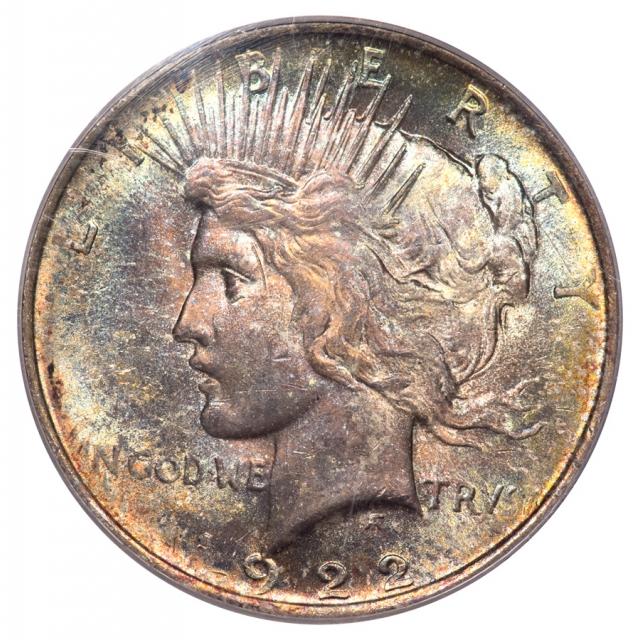 1922 $1 Peace Dollar PCGS MS64 (CAC)