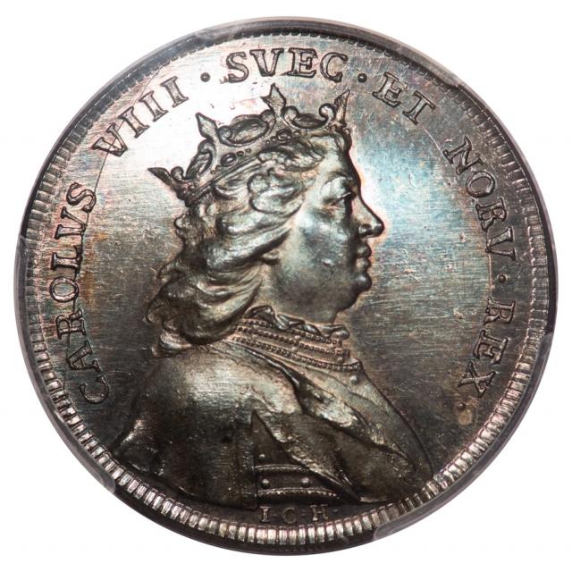 C. 1728-45 Charles VIII PCGS MS65 Sweden Medal