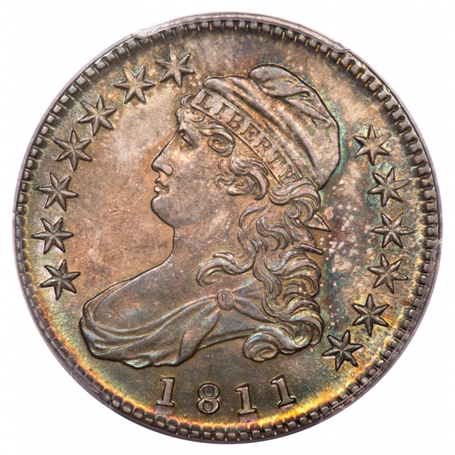 1811 50C Small 8 Overton 105a Capped Bust Half Dollar PCGS MS64