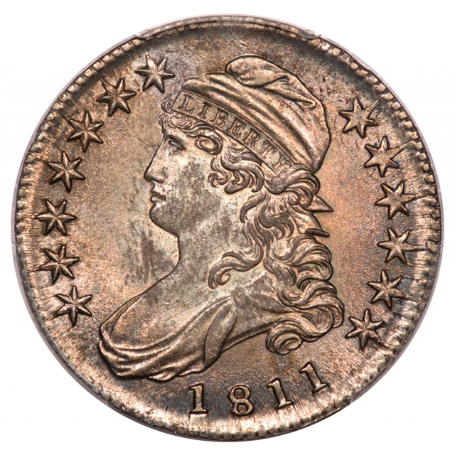 1811 50C Small 8 Overton 110a Capped Bust Half Dollar PCGS MS64