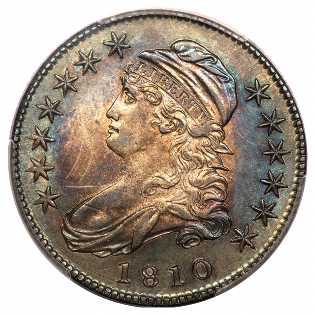 1810 50C Capped Bust Half Dollar PCGS AU53 O-102