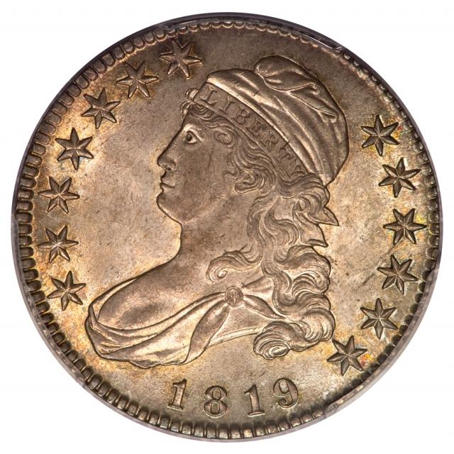 1819 50C Overton 114 Capped Bust Half Dollar PCGS MS63 (CAC) Ex. Eliasberg
