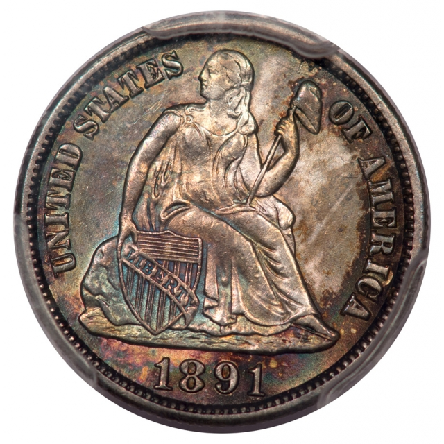 1891-S 10C Liberty Seated Dime PCGS MS64