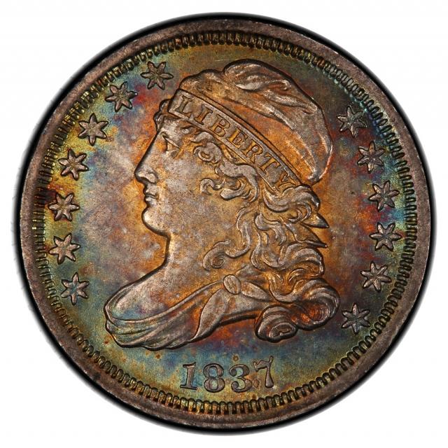 1837 10C JR-1 Capped Bust Dime PCGS MS62 Ex. Gorman