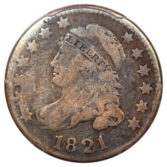 1821 10C Large Date Capped Bust Dime PCGS VG8 JR2 R6+