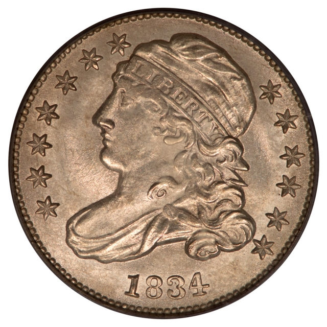 1834 10C Small 4 Capped Bust Dime PCGS MS64 JR4