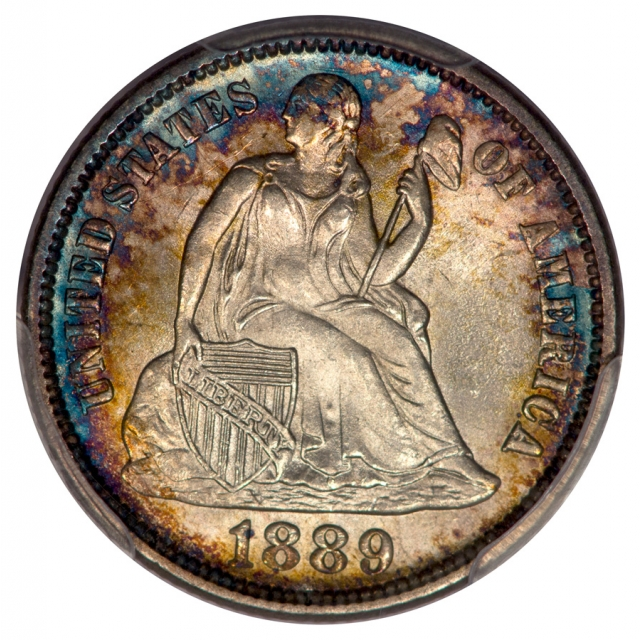 1889 10C Liberty Seated Dime PCGS MS65