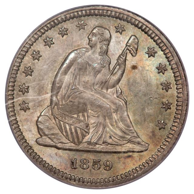 1859 25C Liberty Seated Quarter PCGS MS65
