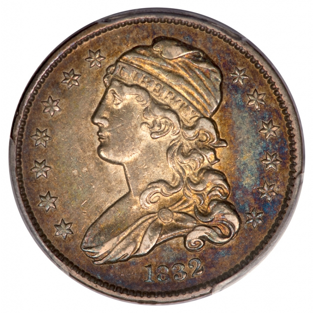 1832 25C Capped Bust Quarter PCGS AU50
