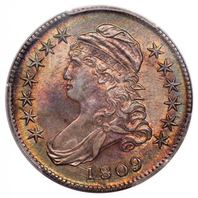 1809 50C Capped Bust Half Dollar PCGS AU55 O-102A
