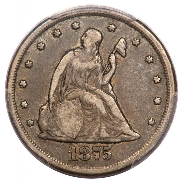 1875-CC 20C Twenty Cent PCGS F15