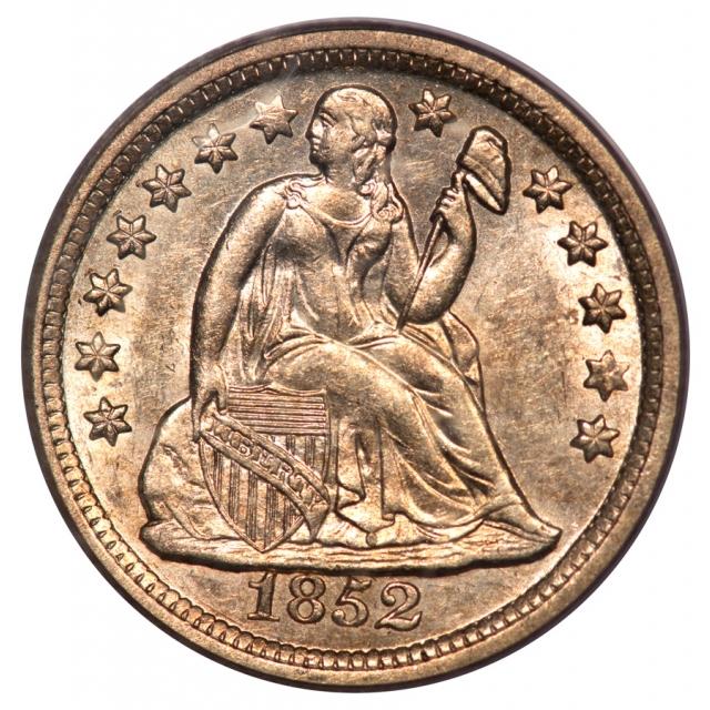 1852-O 10C Liberty Seated Dime PCGS MS62