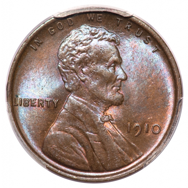 1910 1C Lincoln Cent - Type 1 Wheat Reverse PCGS MS64BN