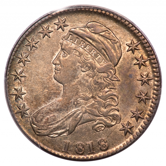 1818 50C Overton 112a Capped Bust Half Dollar PCGS AU53 R5