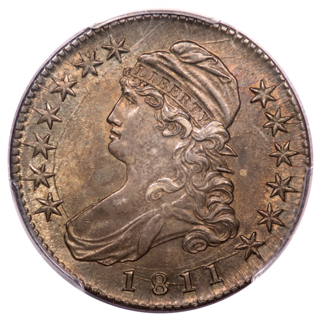 1811 50C Small 8 Overton 112a Capped Bust Half Dollar PCGS MS63 Finest Known