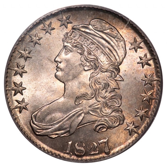 1827/6 50C Capped Bust Half Dollar PCGS OGH MS63 (CAC)