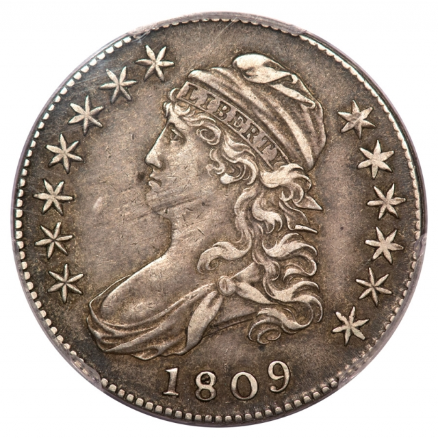 1809 50C Overton 114a Capped Bust Half Dollar PCGS XF40 (CAC)