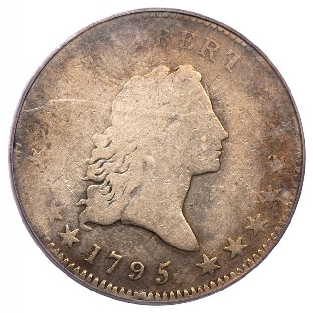 1795 50C Small Head Overton 127 Flowing Hair Half Dollar PCGS G4