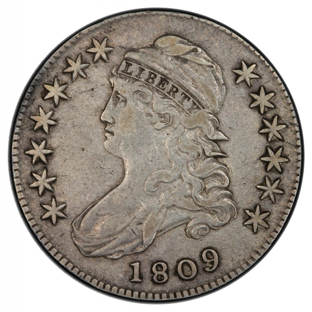 1809 50C Overton 113 Capped Bust Half Dollar PCGS VF30