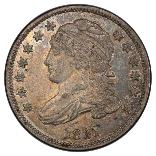 1831 10C Capped Bust Dime PCGS AU55 (CAC) JR5