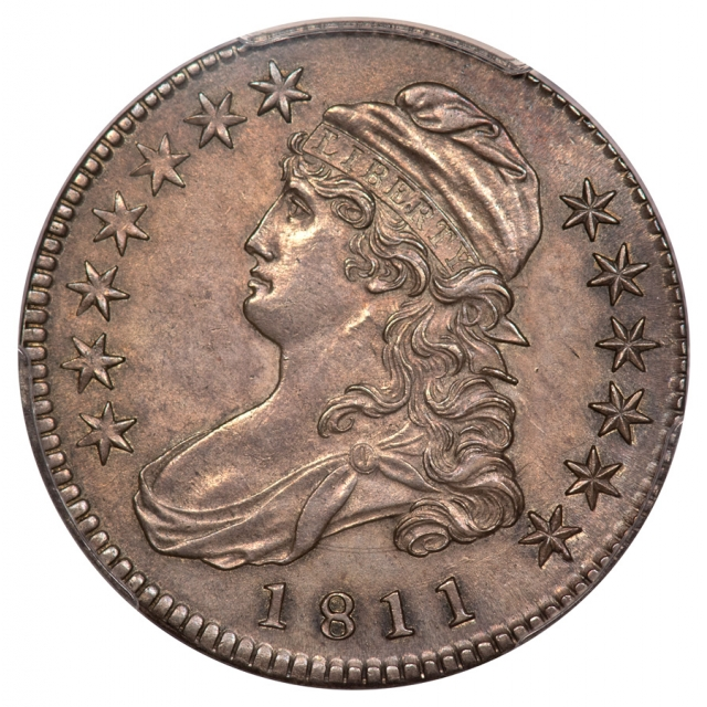 1811 50C Small 8 Overton 111 Capped Bust Half Dollar PCGS MS61
