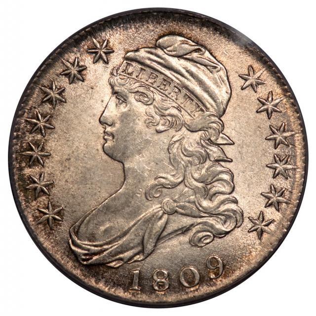 1809 50C III Edge Capped Bust Half Dollar PCGS MS61 O-111A
