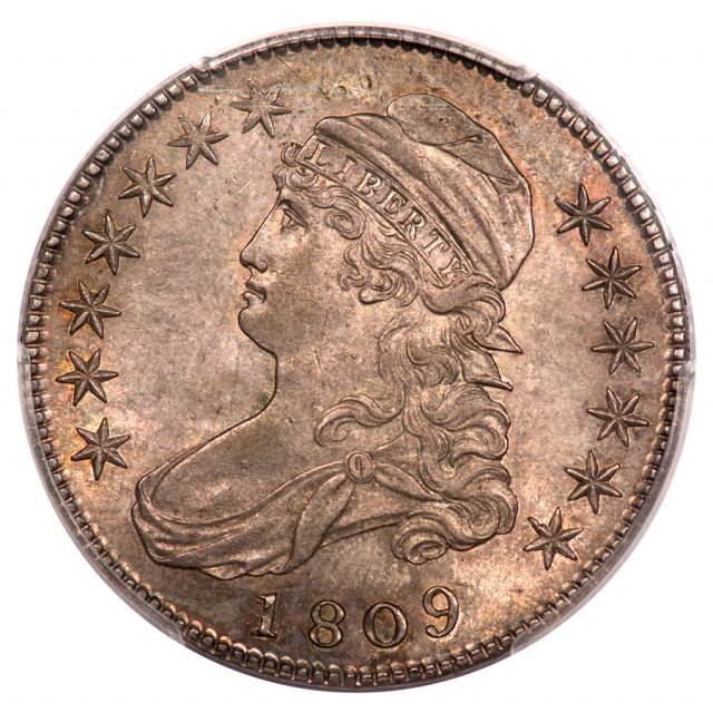 1809 50C III Edge Overton 107 Capped Bust Half Dollar PCGS MS63