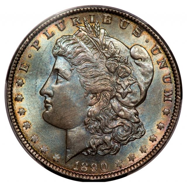 1890 $1 Morgan Dollar PCGS MS65+