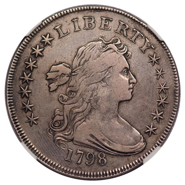 1798 Knob 9 5 Lines S$1 NGC VF30