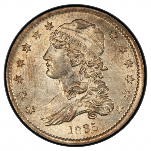 1835 25C Browning 2 Capped Bust Quarter PCGS MS62