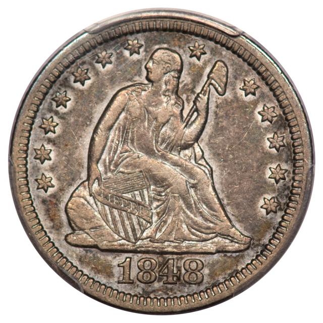 1848 25C Liberty Seated Quarter PCGS VF35