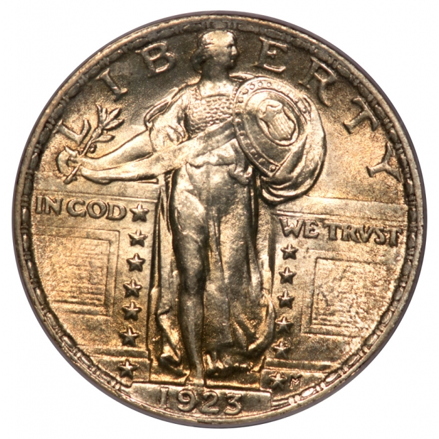1923 25C Standing Liberty Quarter PCGS OGH MS64