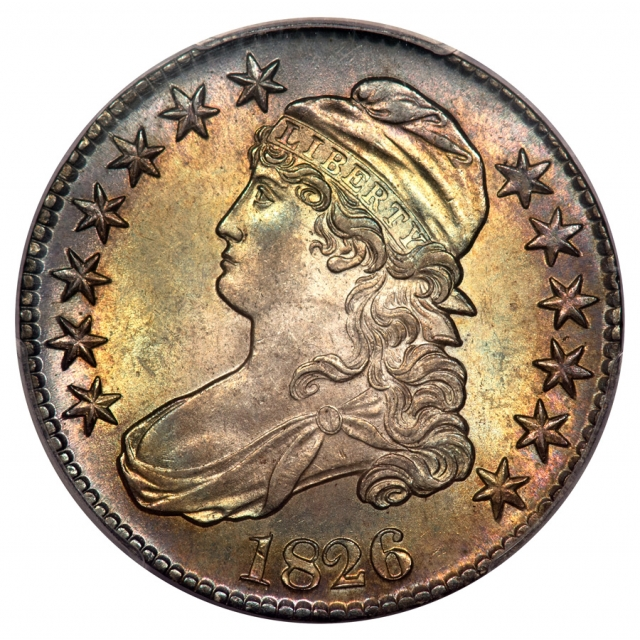 1826 50C O-109 Capped Bust Half Dollar PCGS MS64 (CAC)